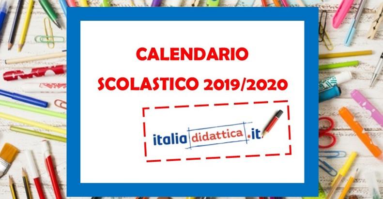 Calendario Scolastico Fvg 2020 20.Calendario Scolastico 2019 2020 Italiadidattica