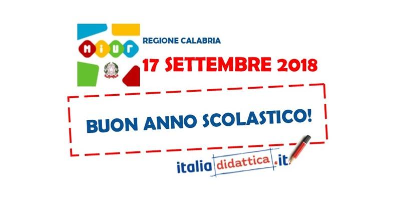 Calendario Scolastico Regionale Calabria.Calabria Calendario Scolastico 2018 2019 Italiadidattica