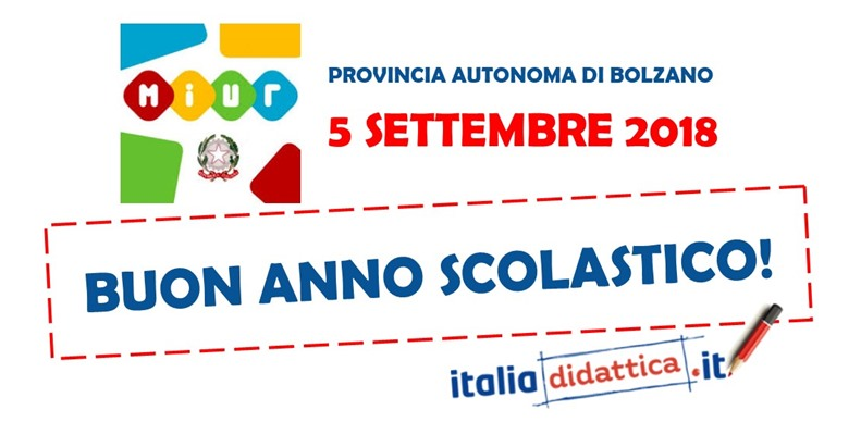 Calendario Scolastico 2020 Bolzano.Bolzano Calendario Scolastico 2018 2019 Italiadidattica