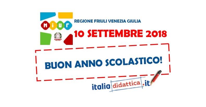 Calendario Scolastico Friuli Venezia Giulia.Friuli Venezia Giulia Calendario Scolastico 2018 2019