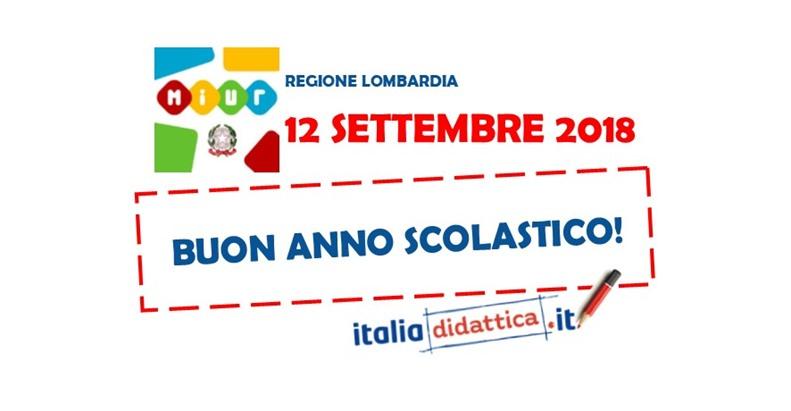 Calendario Scolastico Regione Lombardia.Lombardia Calendario Scolastico 2018 2019 Italiadidattica